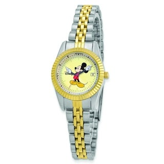 Versil Disney Women's Two-tone Moving Arms Mickey Mouse Watch