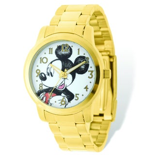 Versil Disney Women's Mickey Mouse Gold-tone Watch