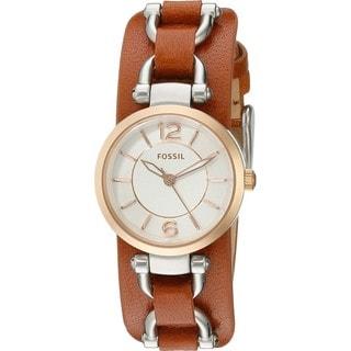 Fossil Women's ES3855 'Georgia Artisan' Brown Leather Watch