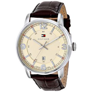 Tommy Hilfiger Men's 1710343 'George' Brown Leather Watch