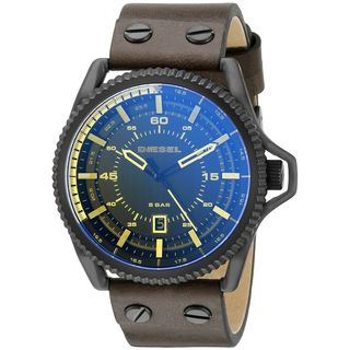 Diesel Men's DZ1718 'Rollcage' Brown Leather Watch