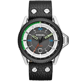 Diesel Men's DZ1717 'Rollcage' Black Leather Watch