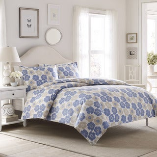 Laura Ashley Poppy Flannel 3-piece Duvet Cover Set
