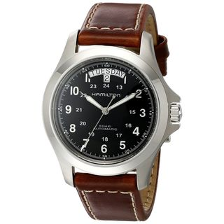 Link to Hamilton Men's H64455533 'Khaki King' Automatic Brown Leather Watch Similar Items in Men's Watches