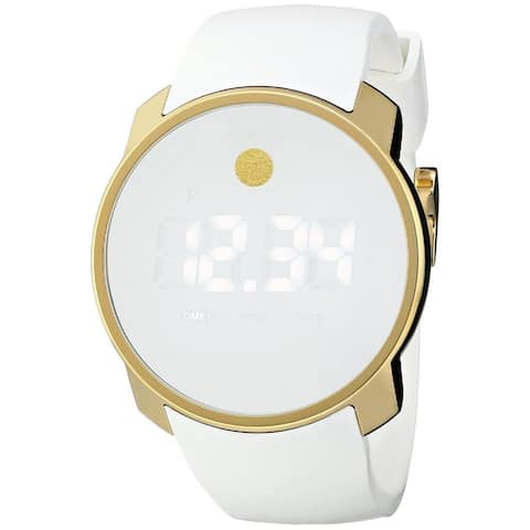 Movado Men's 3600252 'Bold' Digital White Silicone Watch