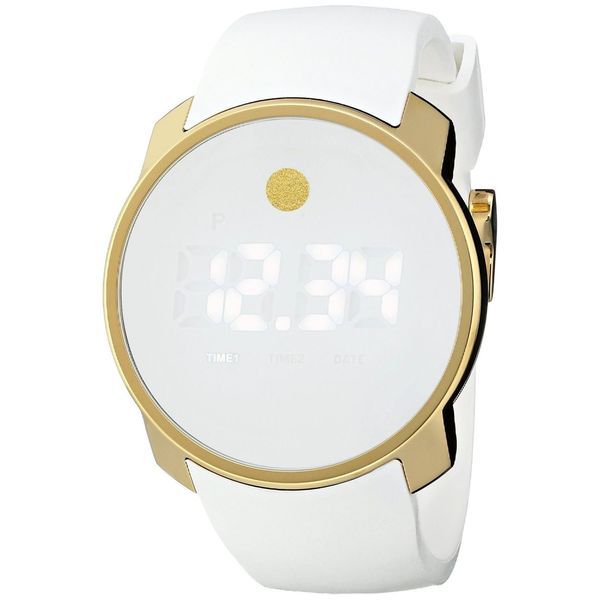 Movado Men's 3600252 'Bold' Digital White Silicone Watch. Opens flyout.