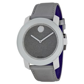 Movado Men's 3600237 'Bold' Grey Leather Watch