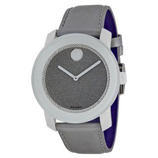 Movado Men's 3600237 'Bold' Grey Leather Watch