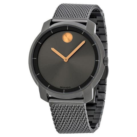 Movado Unisex 3600325 'Bold' Black Stainless Steel Watch