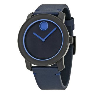 Link to Movado Men's 3600317 'Bold' Blue Leather Watch Similar Items in Men's Watches