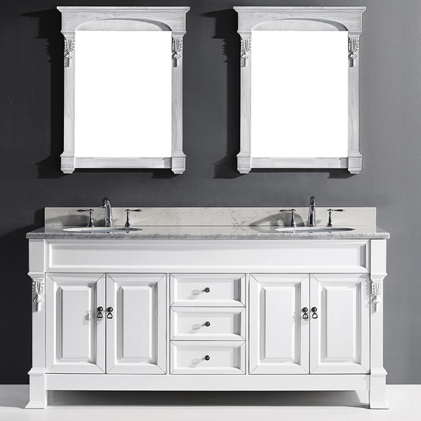 virtu usa huntshire 72 inch double bathroom vanity cabinet