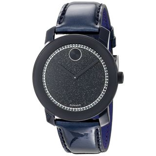 Link to Movado Unisex 3600229 'Bold' Crystal Blue Leather Watch Similar Items in Men's Watches