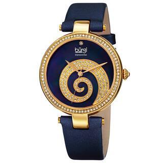 Burgi Women's Quartz Diamond Crystal Leather Blue Strap Watch with FREE GIFT https://ak1.ostkcdn.com/images/products/10584975/P17659795.jpg?impolicy=medium
