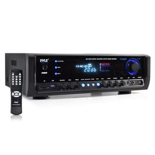 Pyle PT390BTU 300-watt Bluetooth Home Theater Stereo Receiver with Aux Input/ MP3/ USB/ SD/ AM/FM Radio and 2 Mic Inputs|https://ak1.ostkcdn.com/images/products/10584993/P17659823.jpg?impolicy=medium