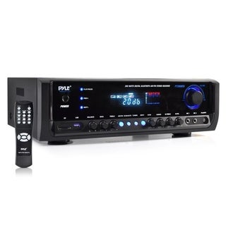 Pyle PT390BTU 300-watt Bluetooth Home Theater Stereo Receiver with Aux Input/ MP3/ USB/ SD/ AM/FM Radio and 2 Mic Inputs