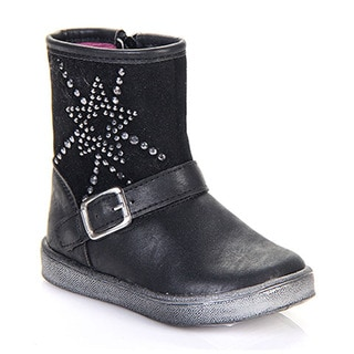 JELLY BEANS DGI-02 Toddlers Rhinestone Deco Ankle Strap Boots
