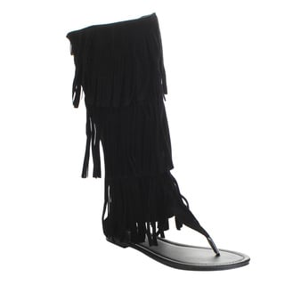 LINK ANIKA-66K Girls' Flat Three Layers Fringe Sandals