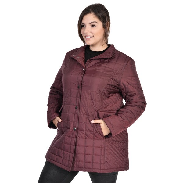 cad0de1ed46 Shop Ladies Plus Size Claudia Coat - Free Shipping Today - Overstock ...