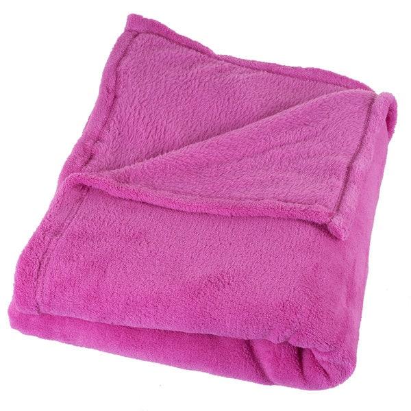 Windsor Home Soft Velvet Fleece Pink Throw Blanket