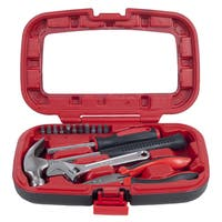 Household H& Tools, Tool Set - 15 Piece by Stalwart, Set Includes Hammer, Wrench, Screwdriver, Pli