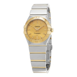 Omega Women's 123.20.27.60.08.001 'Constellation' Goldtone Dial Stainless Steel/Yellow Gold Swiss Quartz Watch
