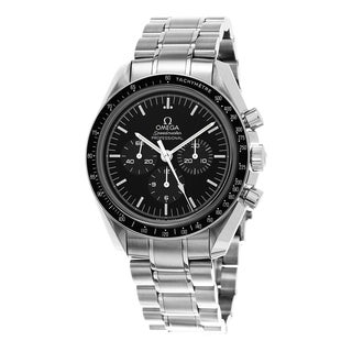 Omega Men's 311.30.42.30.01.006 'Speedmaster Moonwatch' Black Dial Stainless Steel Chronograph Watch