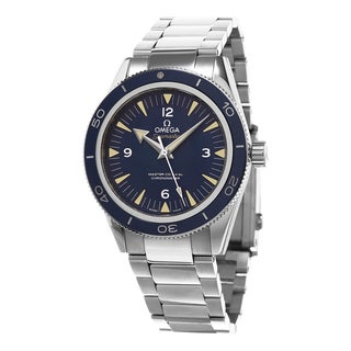 Omega Men's 233.90.41.21.03.001 'Seamaster 300' Blue Dial Titanium Swiss Automatic Watch