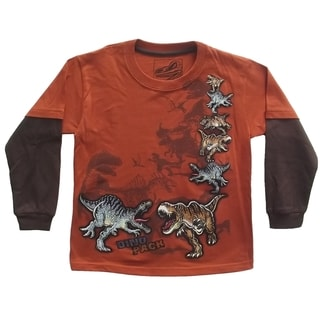 Long Sleeve T-Shirt with Dinosaur Print