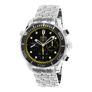 Omega Men's 212.30.44.50.01.002 'Seamaster Diver 300' Black/Yellow Dial Chronograph Stainless Steel Swiss Automatic Watch