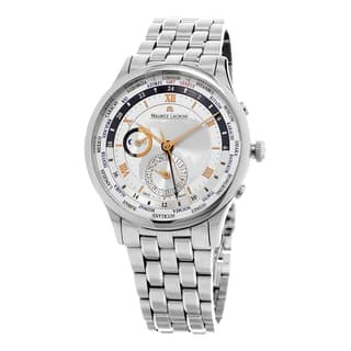 Maurice Lacroix Men's MP6008-SS002110 'MasterPiece World timer' Silver Dial Stainless Steel Swiss Au|https://ak1.ostkcdn.com/images/products/10585101/P17659926.jpg?impolicy=medium