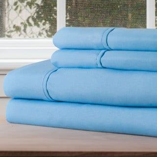Winsor Home Cotton Blend 1200 Thread Count Blue Sheet Set (Twin XL)