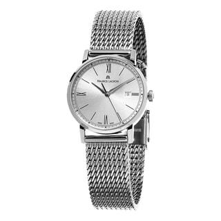 Maurice Lacroix Women's EL1084-SS002-113 'Eliros' Silver Dial Stainless Steel Mesh Bracelet Swiss Quartz Watch