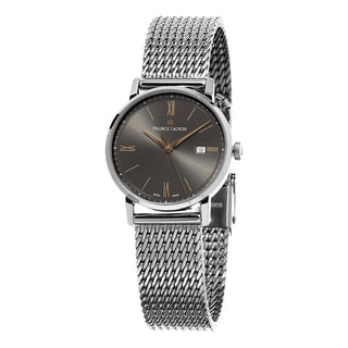 Maurice Lacroix Women's EL1084-SS002-813 'Eliros' Grey Dial Stainless Steel Mesh Bracelet Swiss Quartz Watch