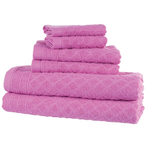 Windsor Home 6-Piece Towel Set - Pink