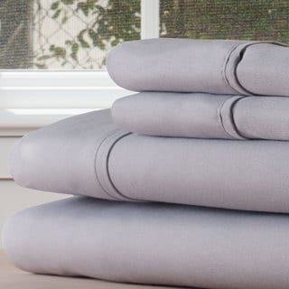 Winsor Home Cotton Blend 1200 Thread Count Silver Sheet Set (Twin XL)