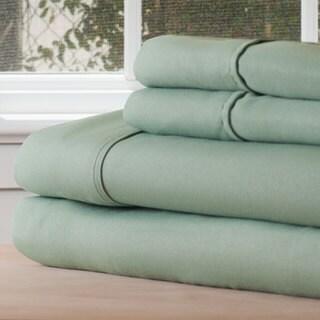 Winsor Home Cotton Blend 1200 Thread Count Sage Sheet Set (Twin XL)