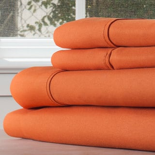Winsor Home Cotton Blend 1200 Thread Count Rust Sheet Set (Twin XL)