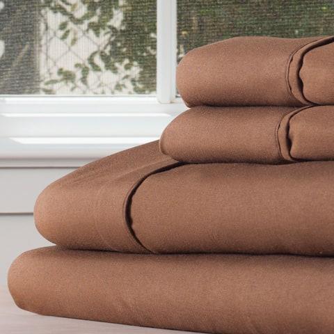 Winsor Home Cotton Blend 1200 Thread Count Chocolate Sheet Set (Twin XL)