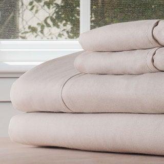 Winsor Home Cotton Blend 1200 Thread Count Bone Sheet Set (Twin XL)