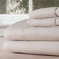 Winsor Home Cotton Blend 1200 Thread Count Bone Sheet Set (Twin XL)
