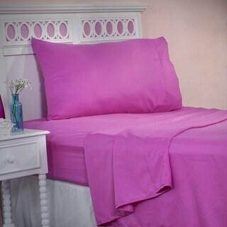 Winsor Home Cotton Blend 1200 Thread Count Pink Sheet Set (Twin)