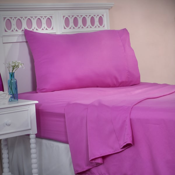 Winsor Home Cotton Blend 1200 Thread Count Pink Sheet Set (Twin)