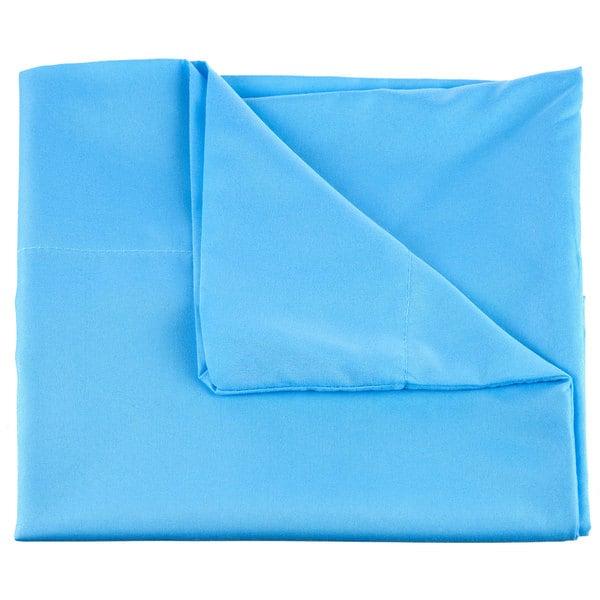 Winsor Home Cotton Blend 1200 Thread Count Blue Sheet Set (Twin)