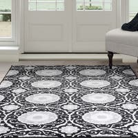 Windsor Home Royal Damask Area Rug - Black - 8' x 10'
