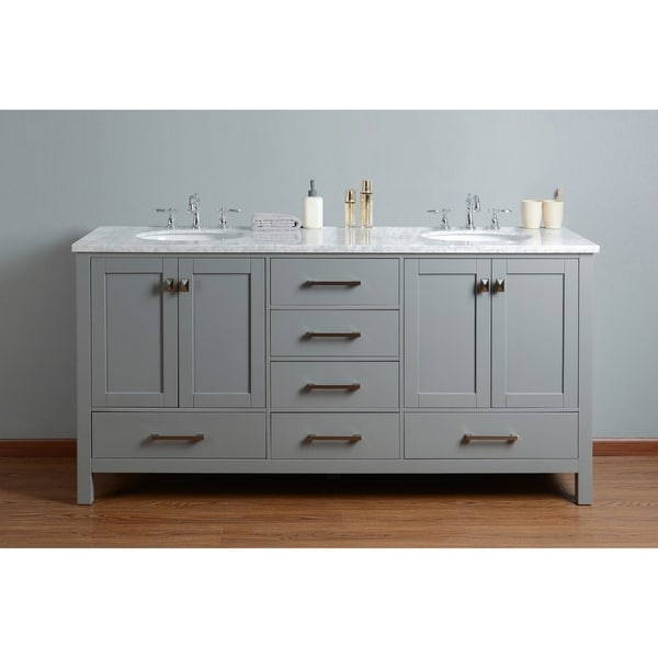 72 inch bathroom vanity double sink shop stufurhome 72 inch malibu grey sink bathroom 24803