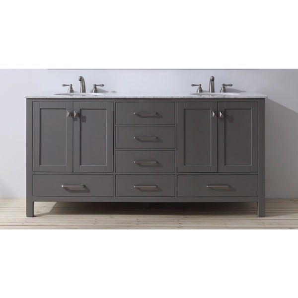 stufurhome 72 inch malibu grey double sink bathroom vanity free
