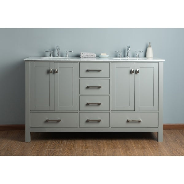 56 double sink bathroom vanity shop stufurhome 60 inch malibu grey sink bathroom 21853