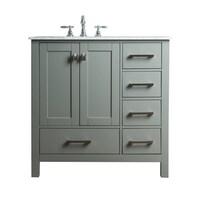 Shop Exclusive Heritage Taupe Grey Wood Inch Singlesink Bathroom - 36 inch gray bathroom vanity