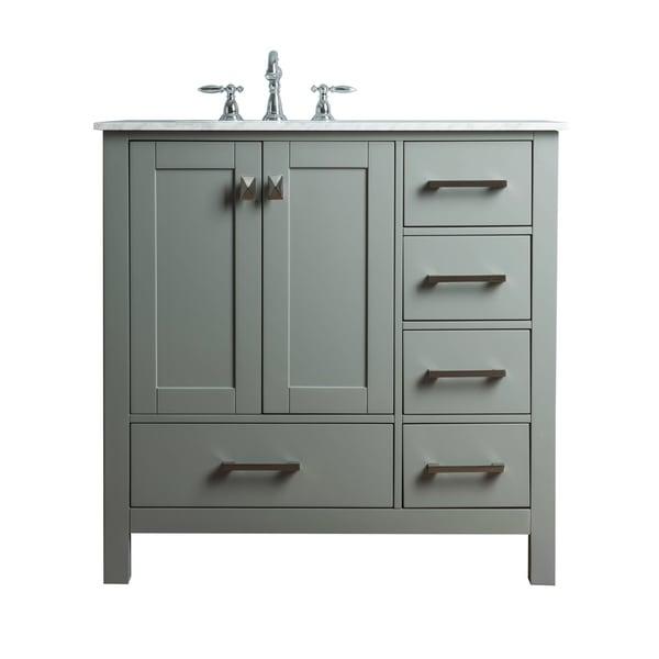 65 Inch Bathroom Vanity Single Sink: Shop Stufurhome 36 Inch Malibu Grey Single Sink Bathroom