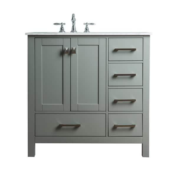 Shop Stufurhome 36 Inch Malibu Grey Single Sink Bathroom Vanity Overstock 10585157,Clearest Water In The Us